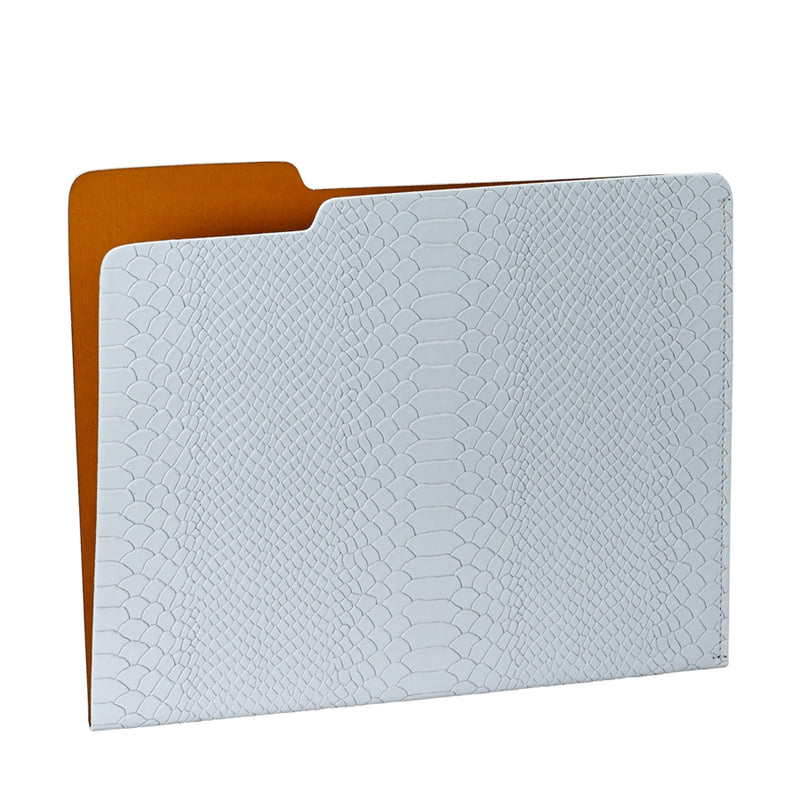 GRAPHIC IMAGE | Carlo File Folder | Cloud Leather - Snakeskin Texture Blue Leather Personal Accessory and File Folder