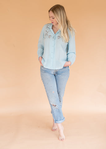 Vintage Baby Blue Sweater
