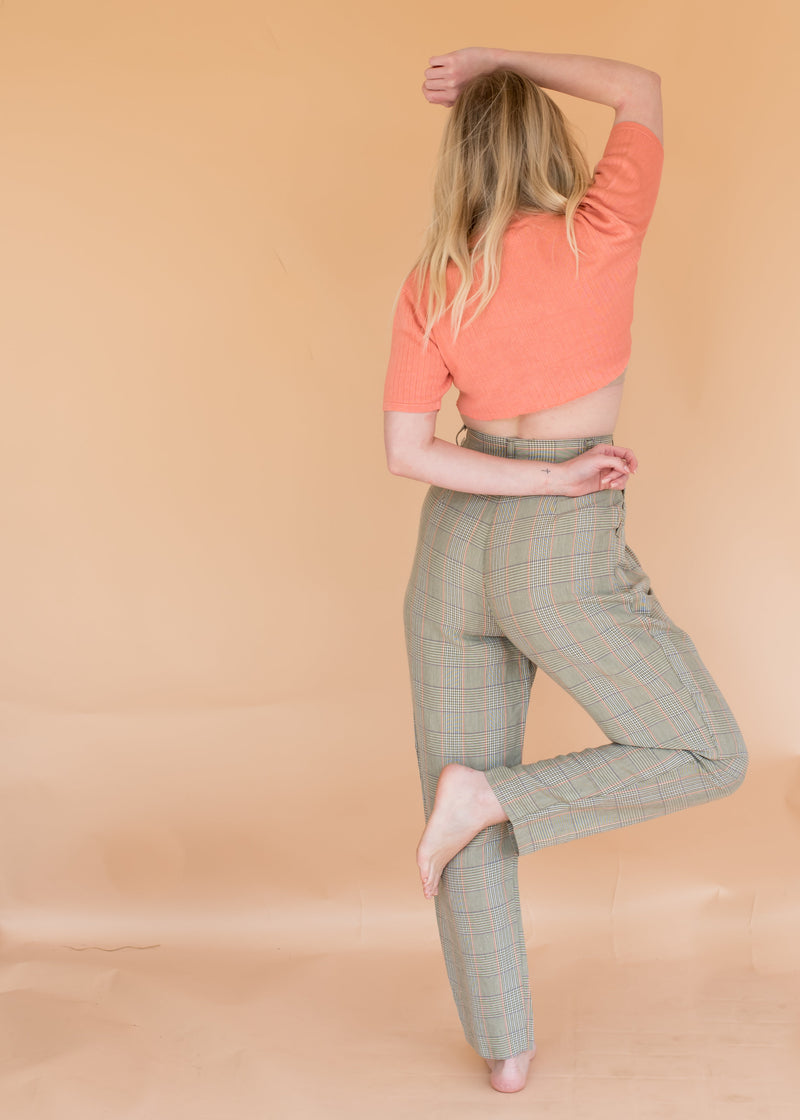 Vintage Plaid Trousers
