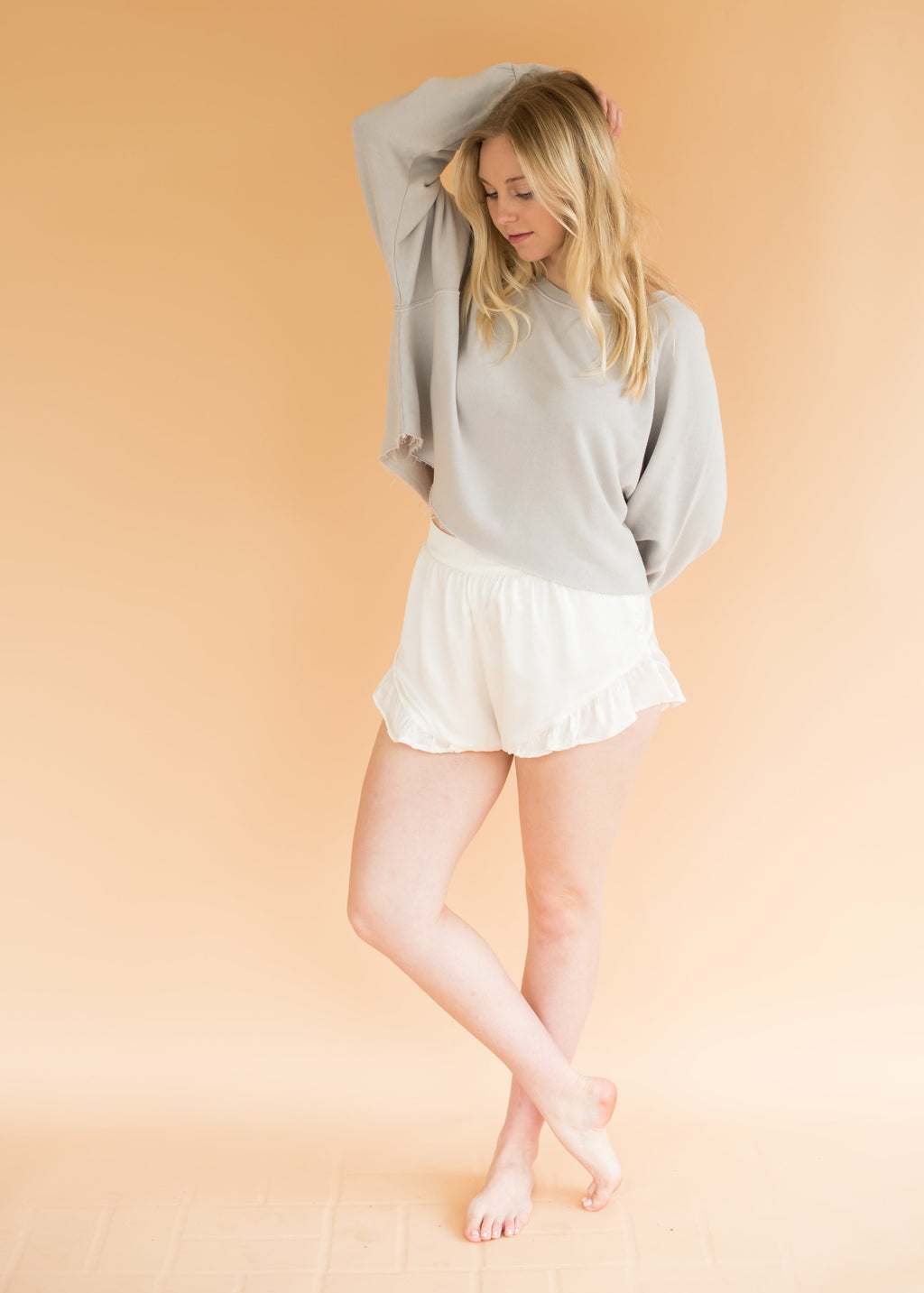 The Austin Bloomers - Women's White Silk Shorts