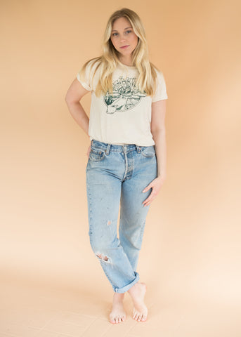 Vintage White Dragon Tee - Vintage Distressed T-Shirt