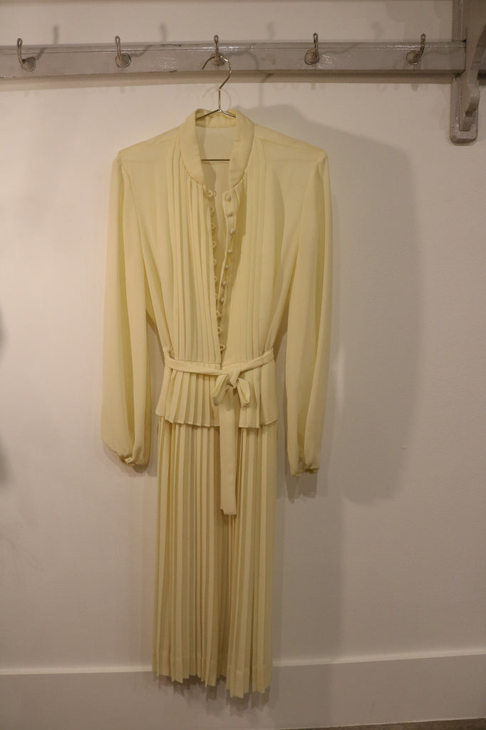 Vintage Butter Yellow Dress