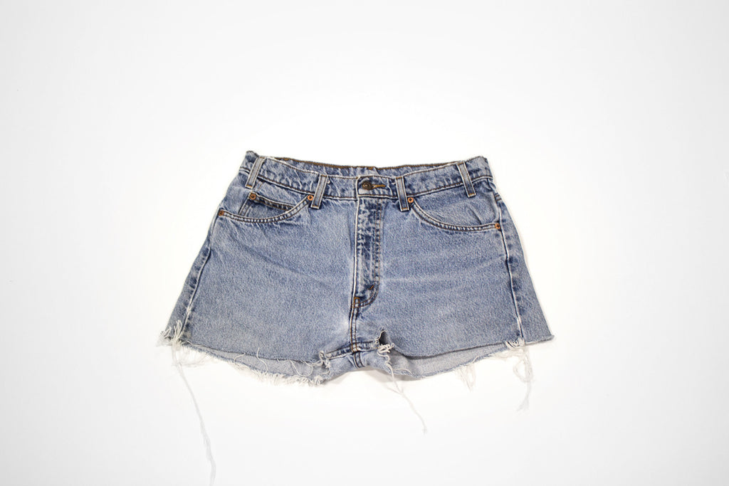 Women's Vintage Denim Levi Cut Offs with Embroidery