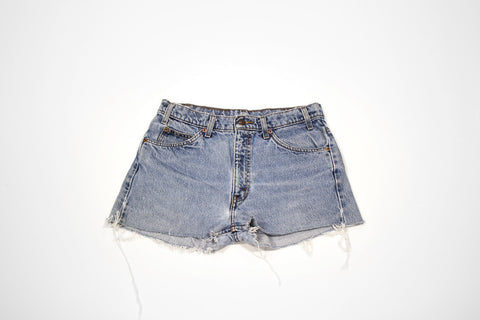 Custom Order - Feather & Logo Vintage Cut Offs - Women's Vintage Levi Shorts with Embroidery