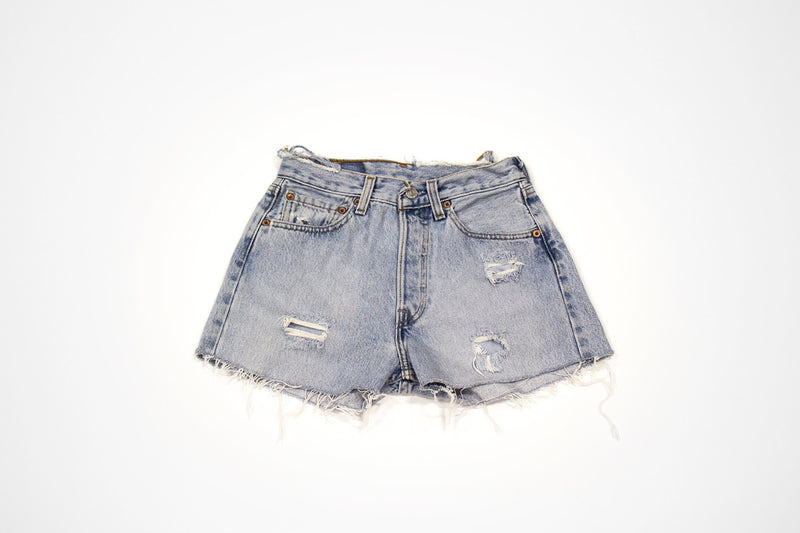 Women's Vintage Denim Levi Shorts with Embroidery