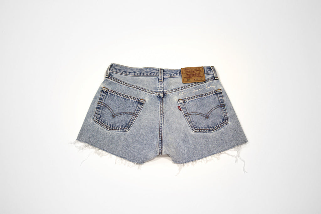 'Blue Jean Baby' Classic Embroidered Cut Offs