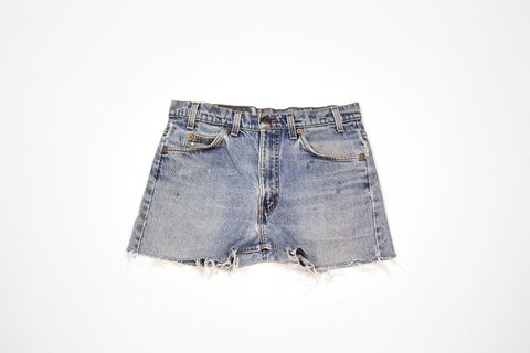 Custom Order - Paisley Drop Cut Offs - Women's Vintage Levis Denim Shorts with Embroidery