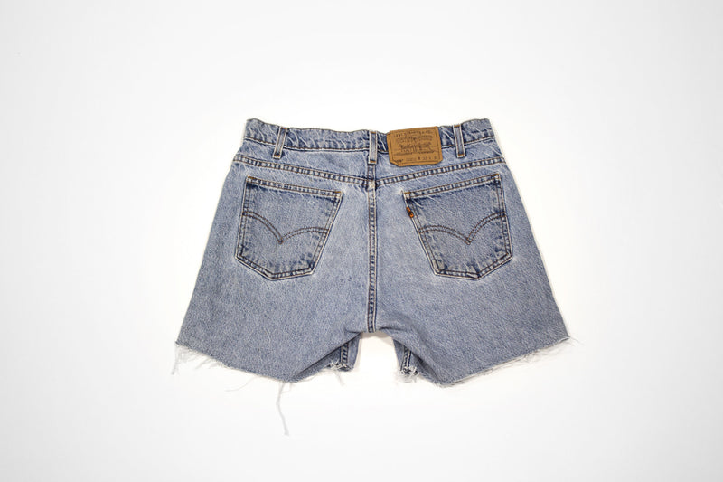 Lovely Lotus Cut Offs - Vintage Women's Denim Levi Shorts with Embroidery