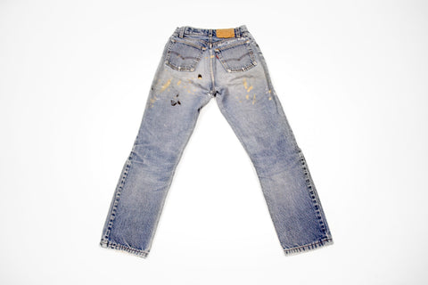 'Blue Jean Baby' Wordplay Paint Splatter Levi's