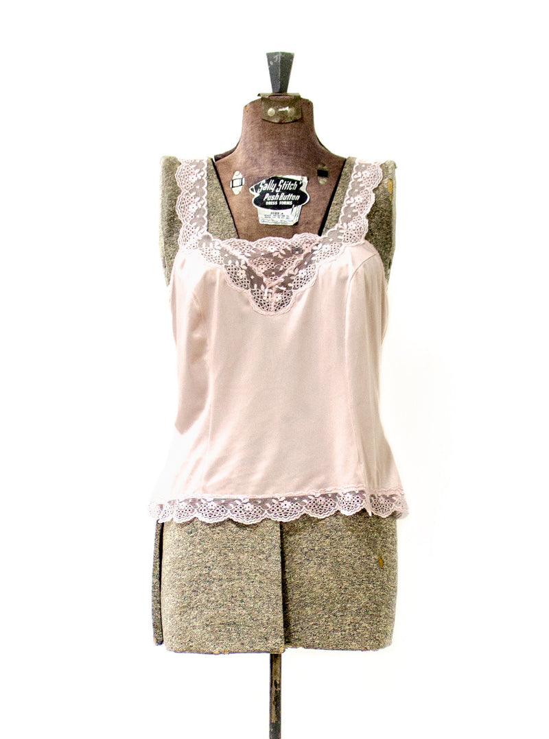 Vintage Women's Dusty Pink Slip Top