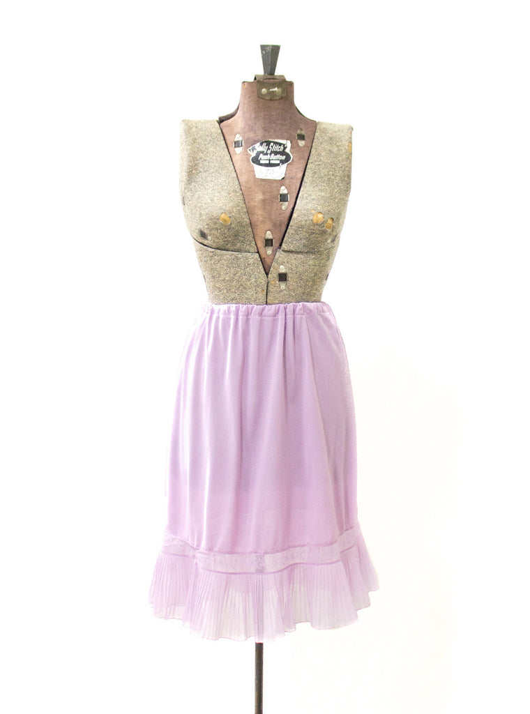 Lavender Pleated Slip Skirt