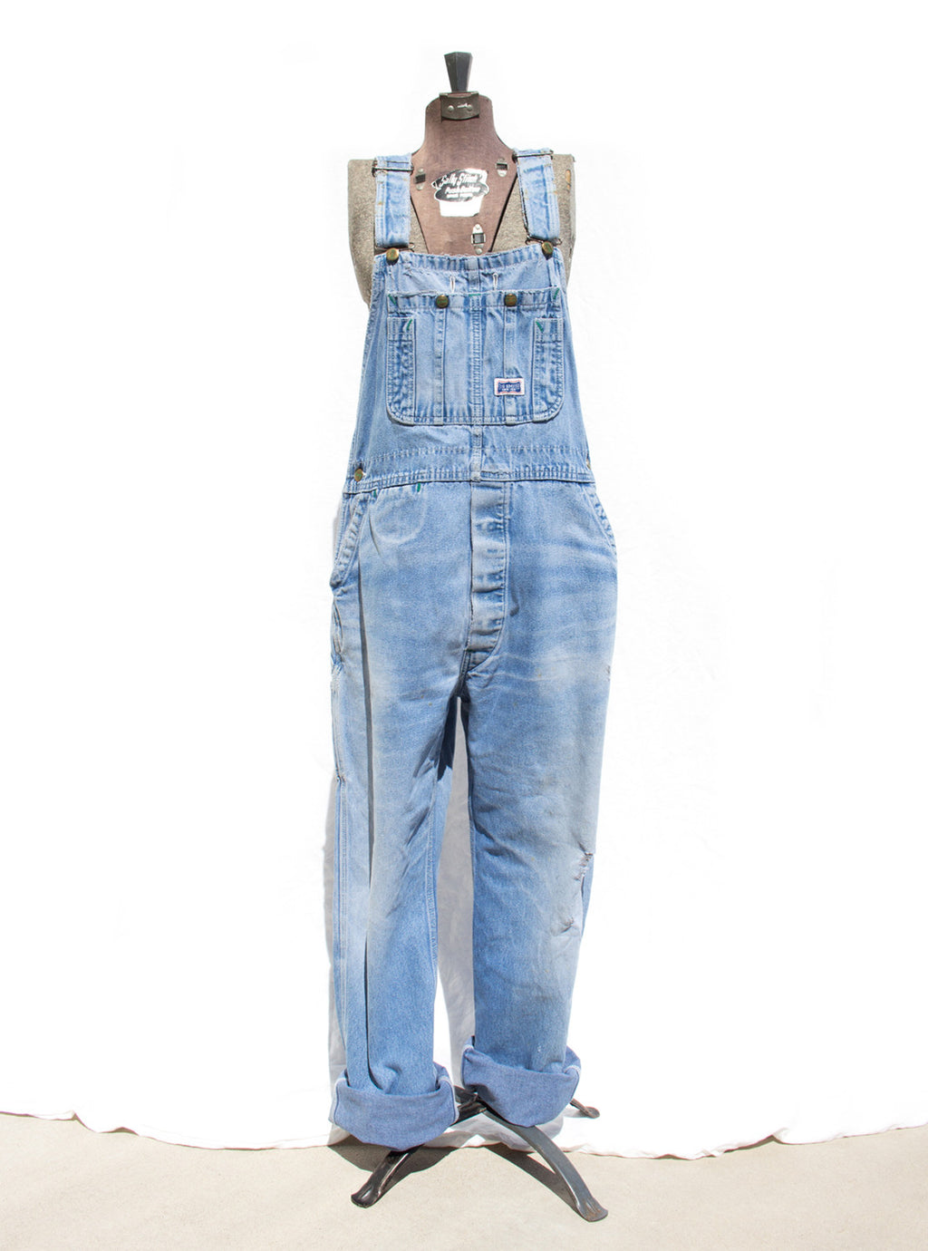 Women's Vintage Denim Carpenter Overalls