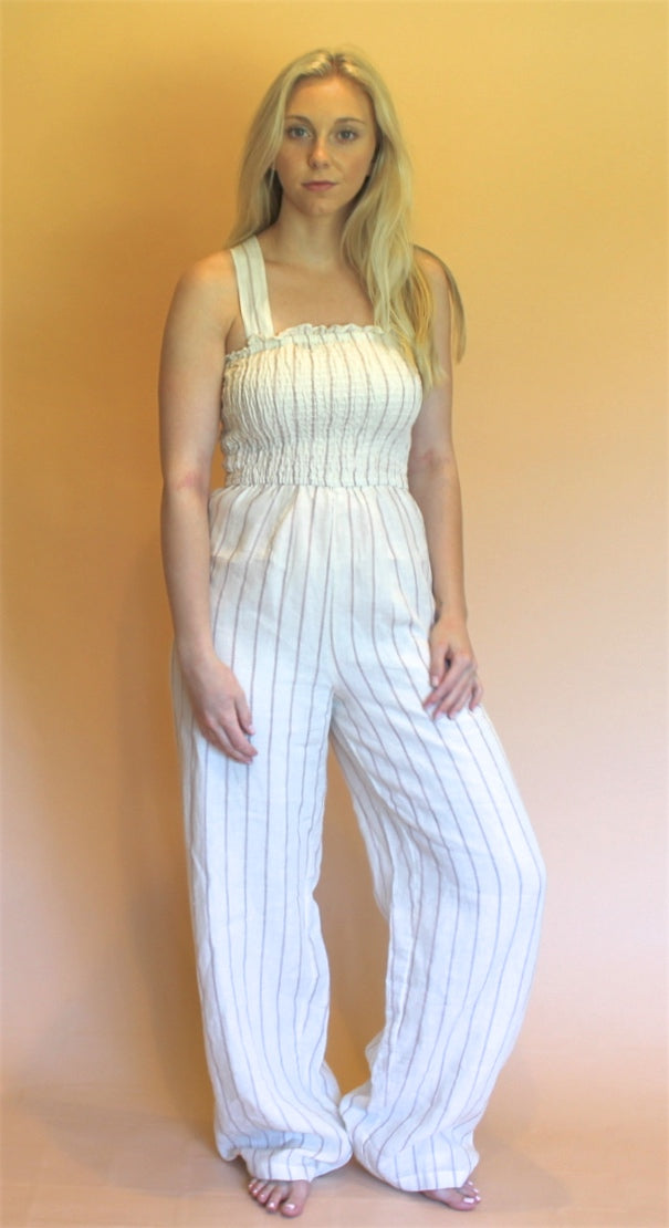 Winston White Striped Jumpsuit