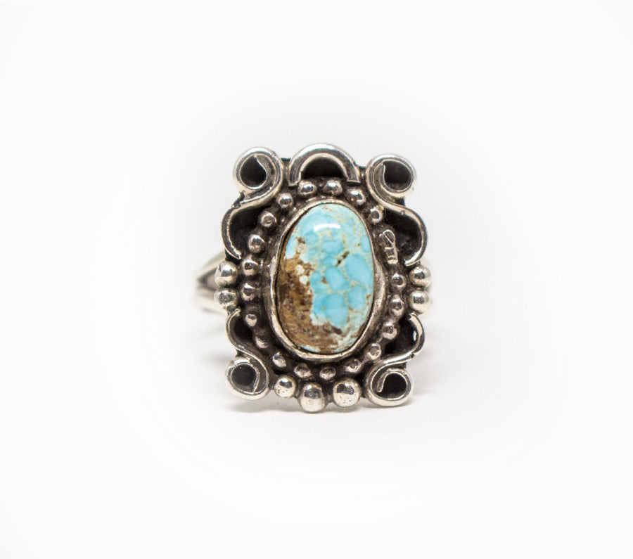 Women's Endless Movement Ring - Turquoise and Silver Jewelry