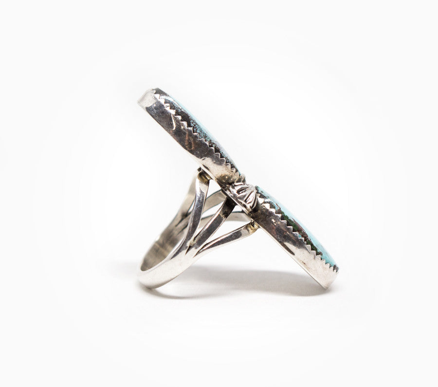 Strength Ring - Women's Turquoise and Silver Jewelry
