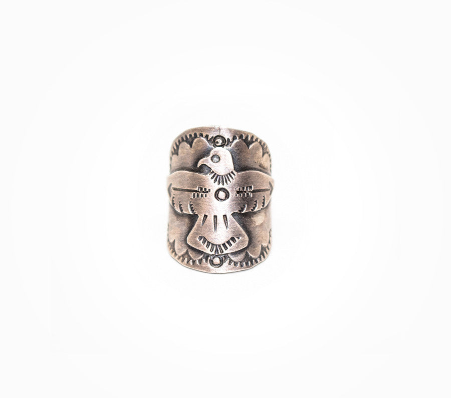 Freebird Ring - Women's Silver Engraved Jewelry