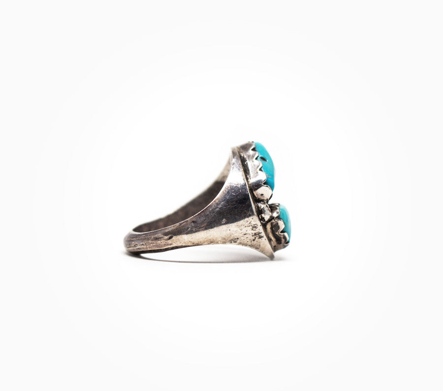 Yin Yang Vintage Ring - Vintage Women's Turquoise Jewelry