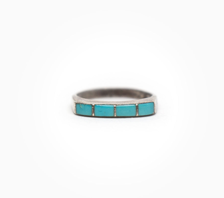 Linear Vintage Stacker - Women's Vintage Turquoise Jewelry