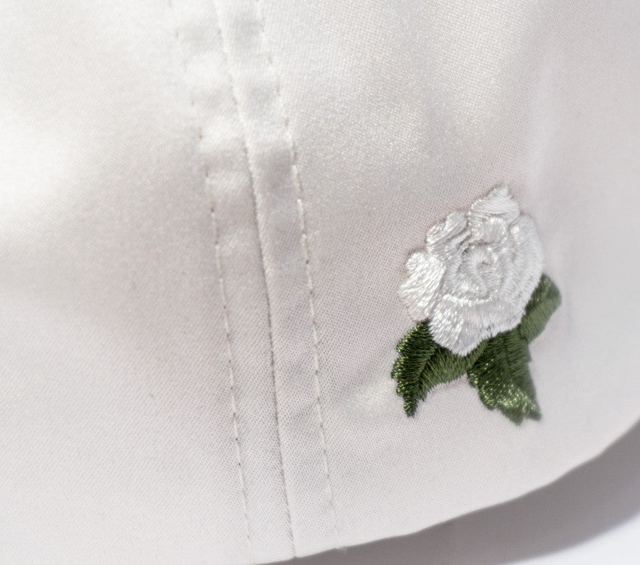 White Rose Satin Dad Hat - Women's Hats