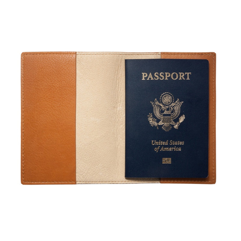 GRAPHIC IMAGE | Leather Passport Cover | Almond Embossed - Leather Passport Holder Accessory