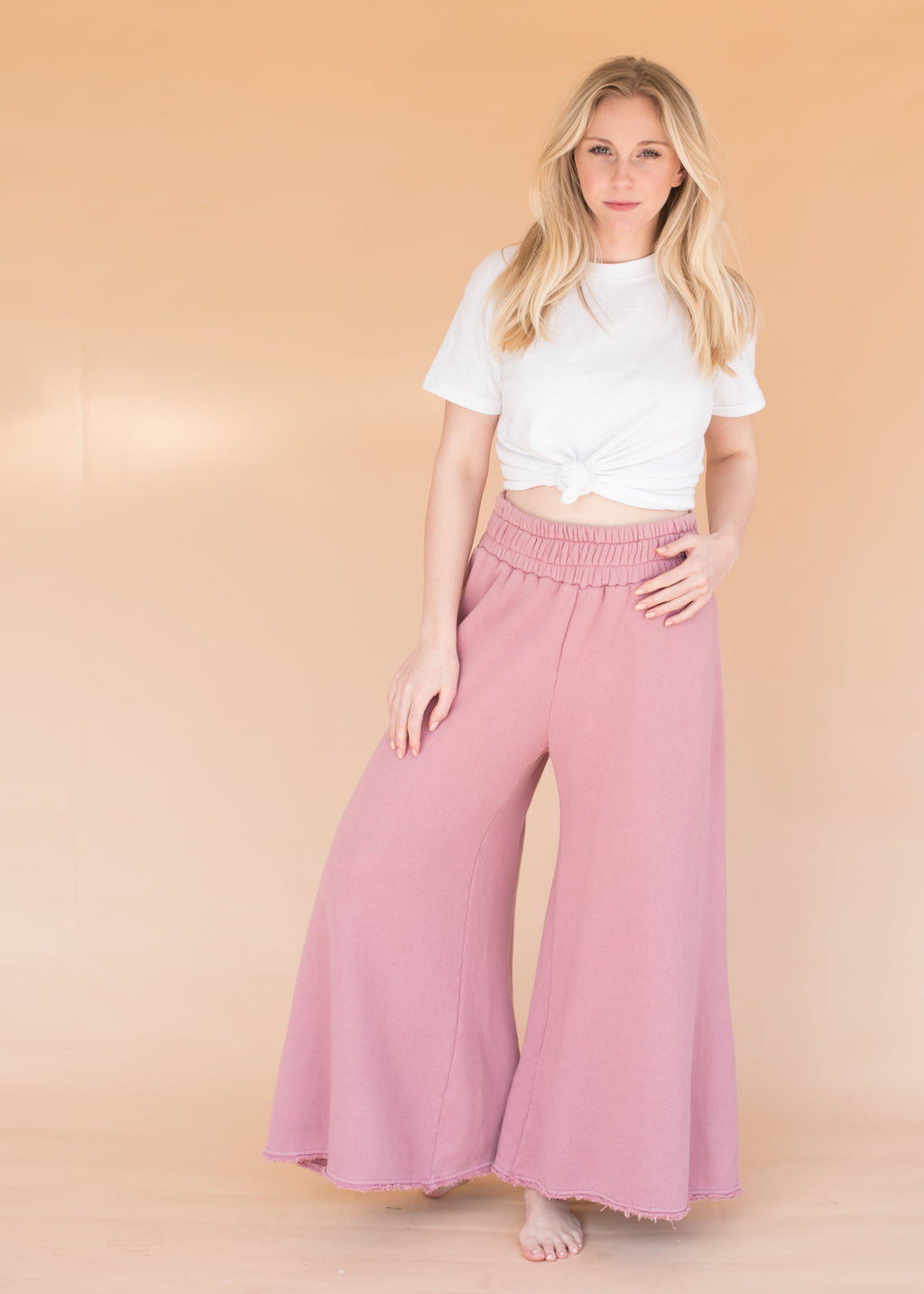 Women's High-Waisted Wide Leg  Sweatpants