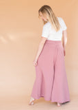 Women's High-Waisted Rose Wide Leg  Sweatpants
