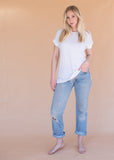 The Lonestar Moto Tee - Women's White Tee