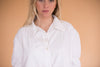 Vintage French Top - Vintage White Collared Shirt