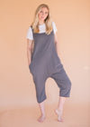 One Piece Jumper - Shark Grey - Women's Grey Cotton One Piece Jumper