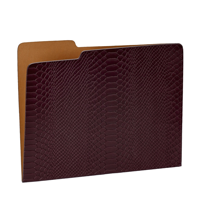 GRAPHIC IMAGE | Carlo File Folder | Burgundy Leather