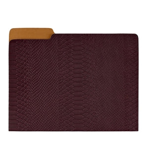 GRAPHIC IMAGE | Carlo File Folder | Indigo Leather