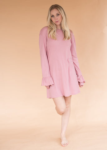 One Piece Jumper - Pink - Women's Pink Cotton One Piece Jumper