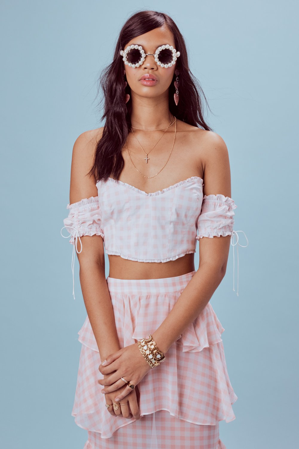 For Love and Lemons Dixie Ruffle Top