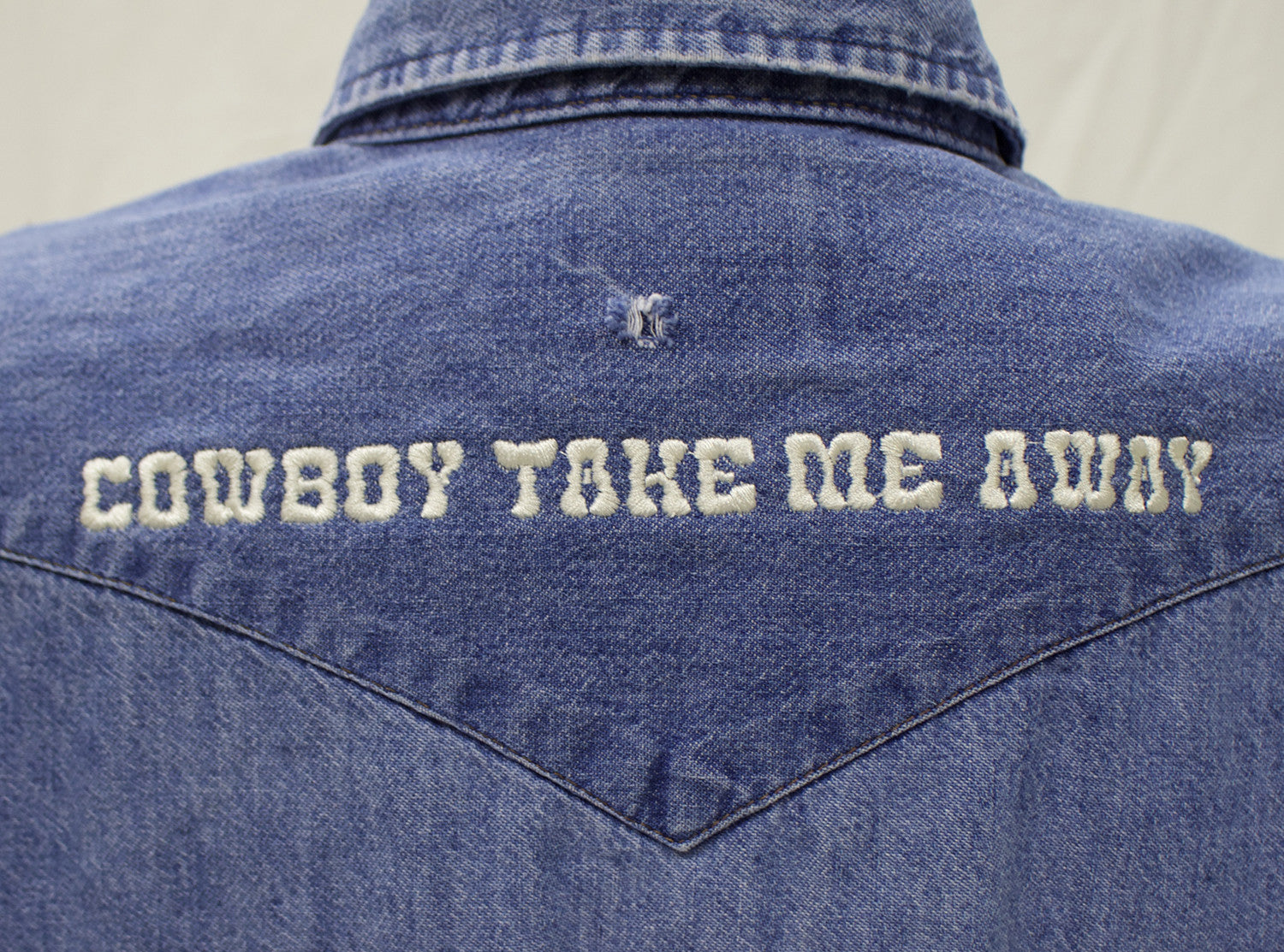 """Cowboy Take Me Away"" Denim Pearl Snap"
