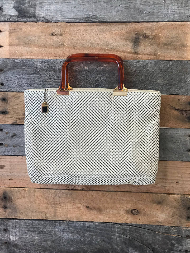 Vintage Metal Mesh Purse With Tortoise