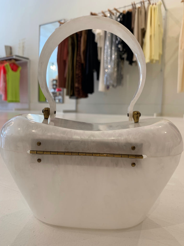 White Vintage Box Bag
