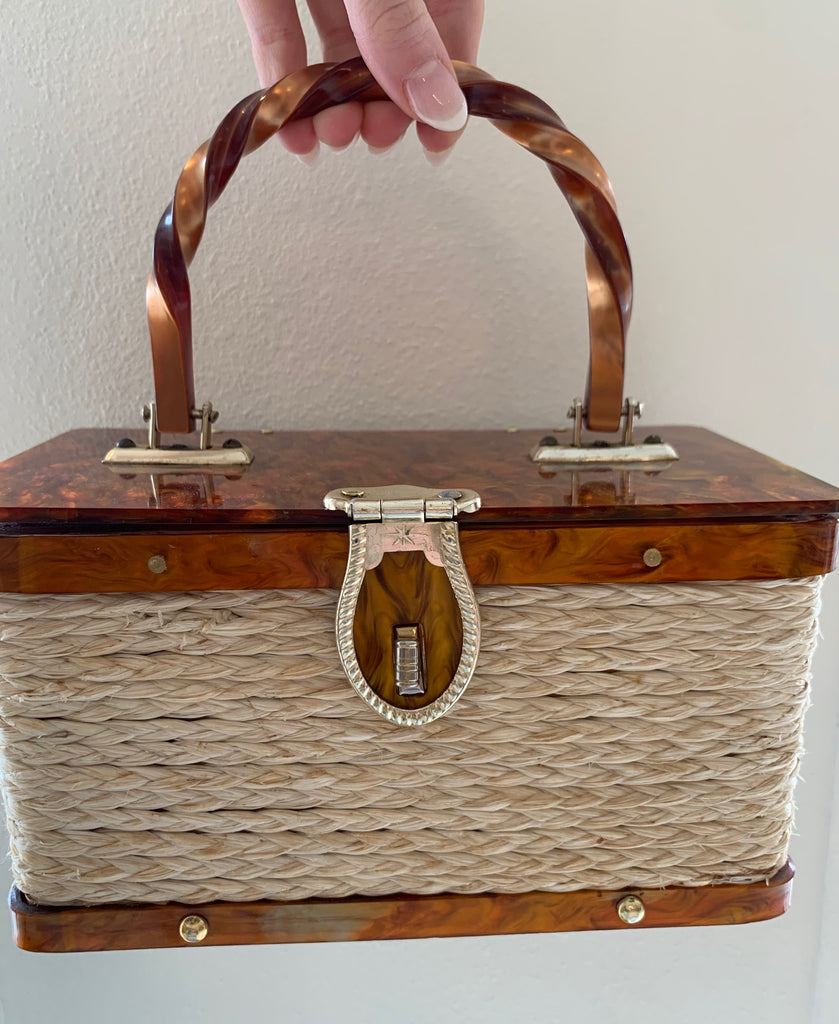 Brown Marble Box Bag
