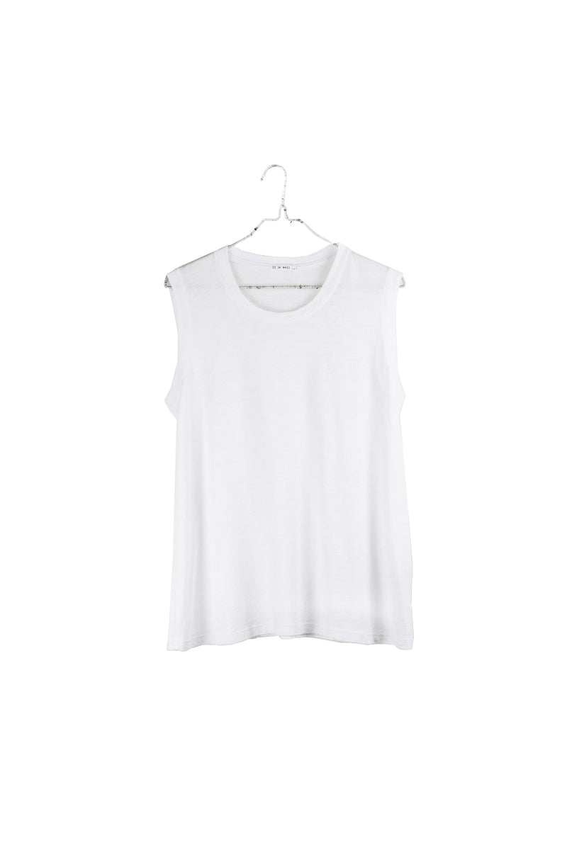 It Is Well Muscle Tee - White