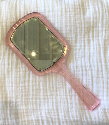 1950s Baby Pink Sequin Glasses Case