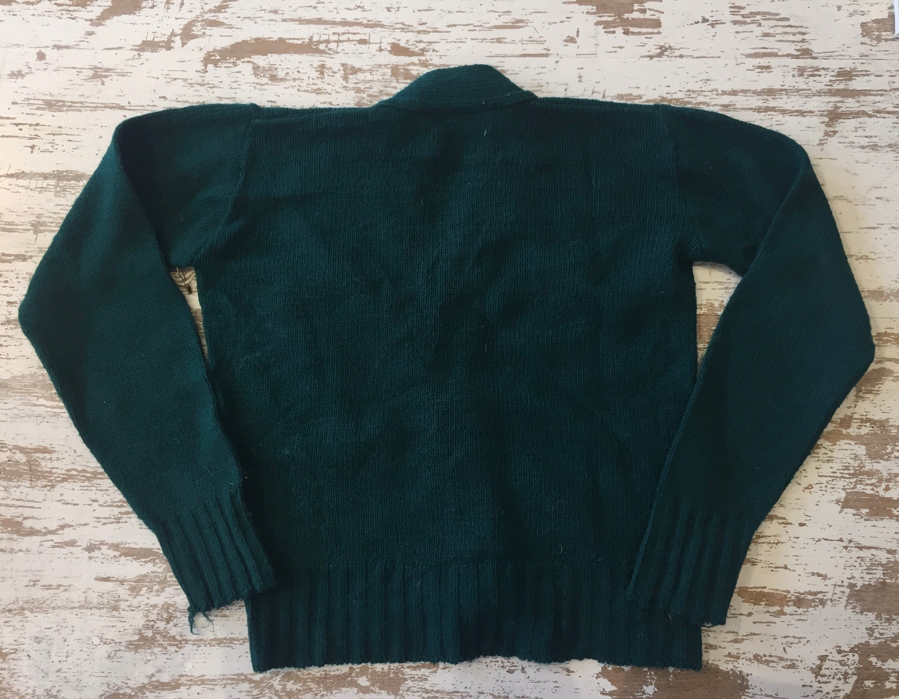 Vintage Children's Green Cardigan