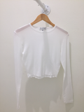 Long Sleeve Pointelle Top