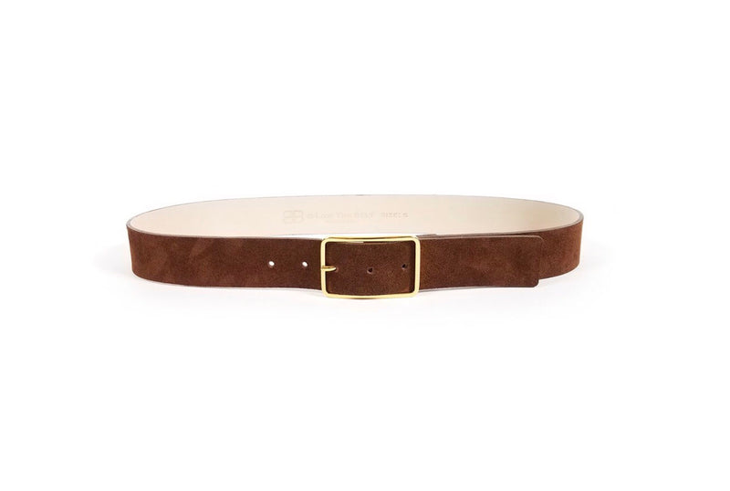 B-Low The Belt Brown Suede Belt