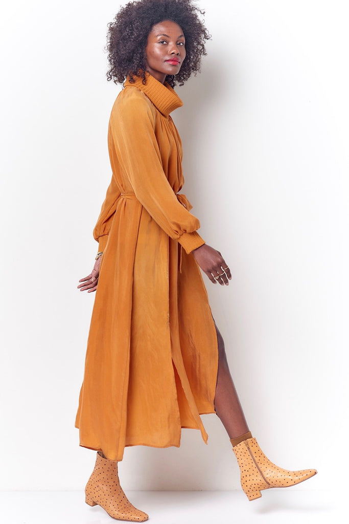 RITA Turtleneck Maxi Dress