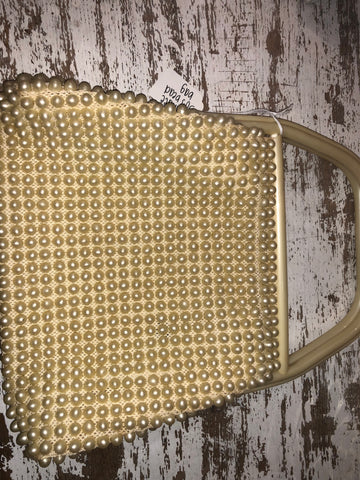 Vintage Metallic Brown Beaded Bag