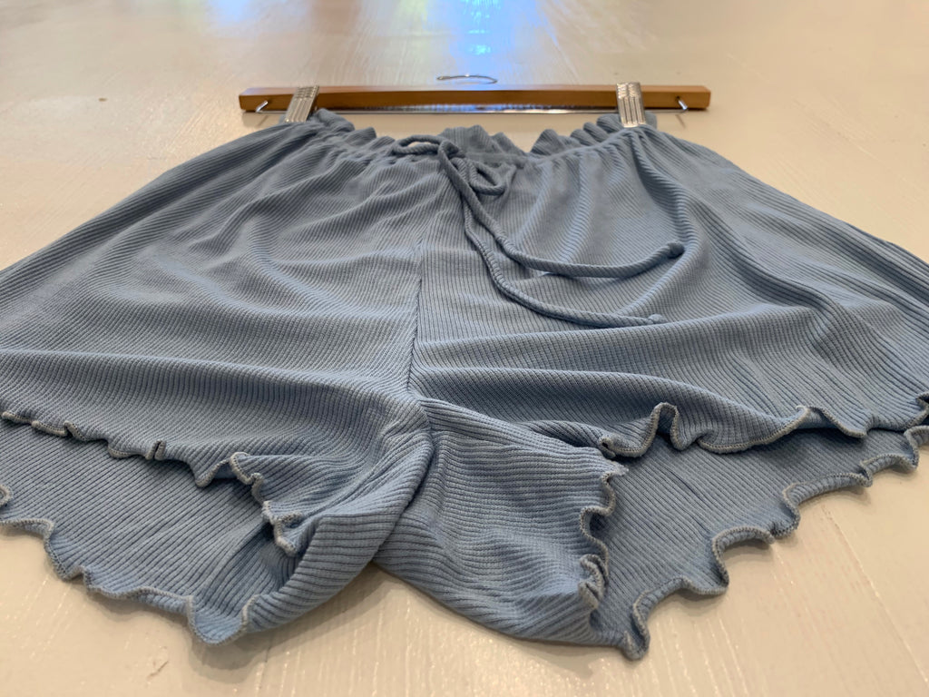 Blue Paper Bag Shorts