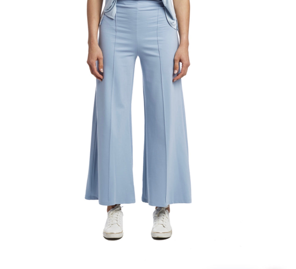 Light Blue Wide Leg Pant: Ankle Edit