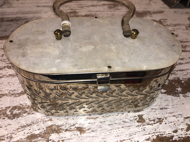 Metal and Lucile Oval Purse 1950s