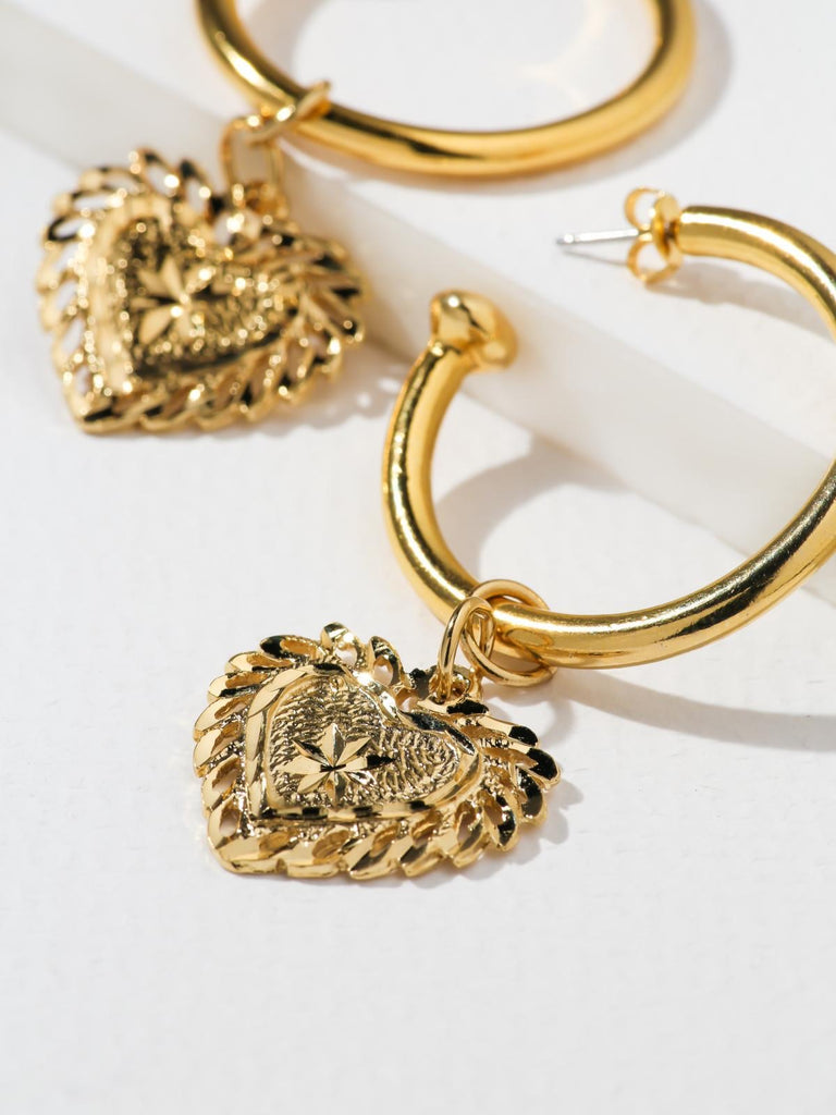 The Fillgree Heart Hoops