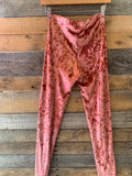 BJB Pink Velvet Leggings