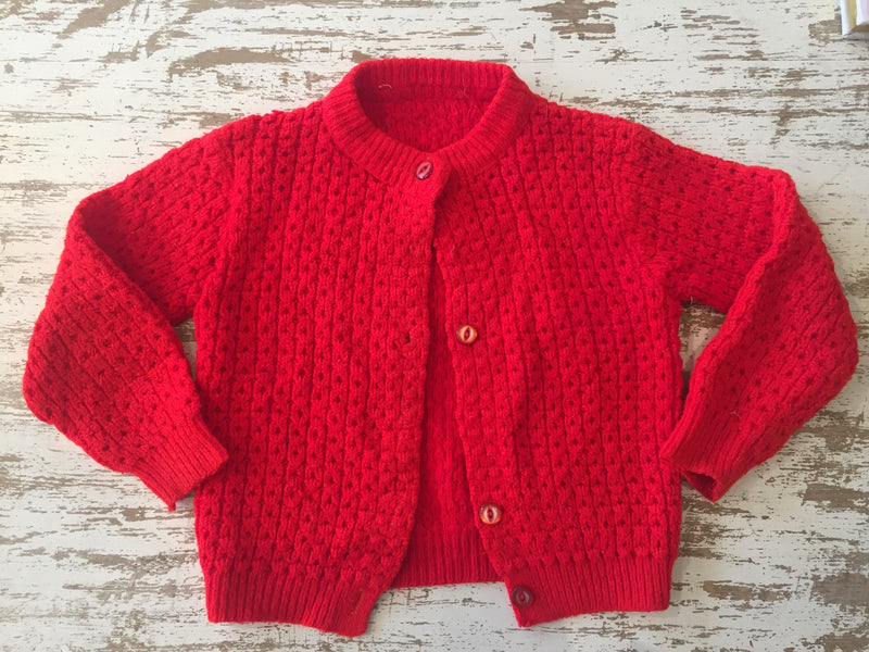 Vintage Red Children's Cardigan